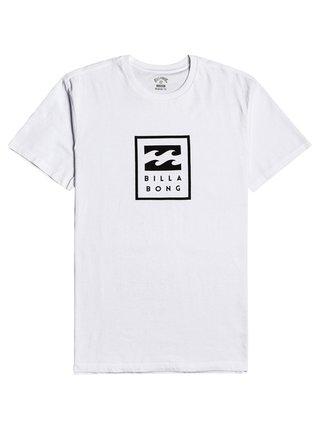 Billabong UNITY STACKED white pánské triko s krátkým rukávem - bílá