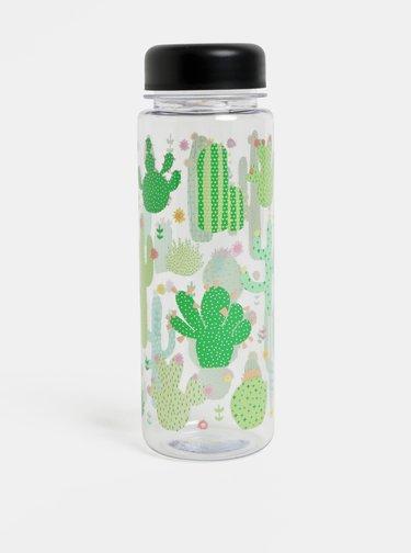 Plastová láhev na vodu s motivem kaktusů Sass & Belle