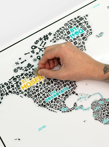 Biela stieracia mapa Luckies Of the f*#?ing world