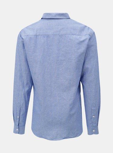 Modrá vzorovaná regular fit košeľa Casual Friday by Blend