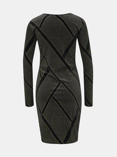 Černé vzorované sametové šaty Noisy May Diva