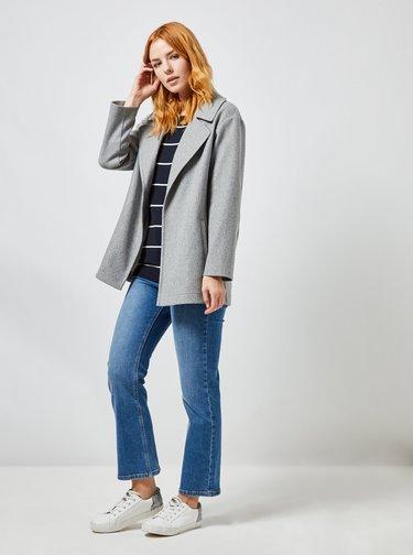 Šedý krátký kabát Dorothy Perkins
