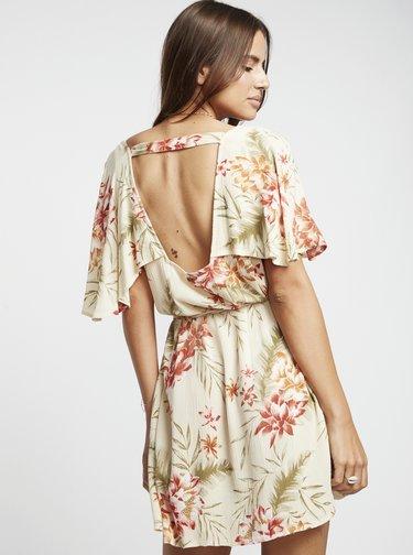 Krémové kvetované šaty Billabong