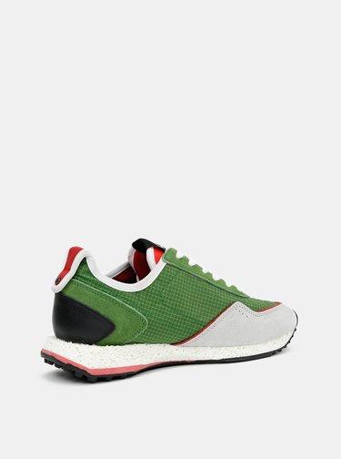 Zelené pánske tenisky se semišovými detailmi Replay