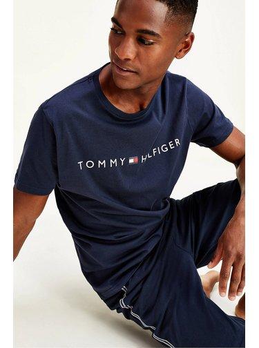 Tommy Hilfiger modré tričko CN SS TEE s logem