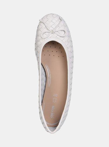 Biele dámske baleríny Geox