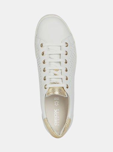 Biele dámske kožené tenisky Geox