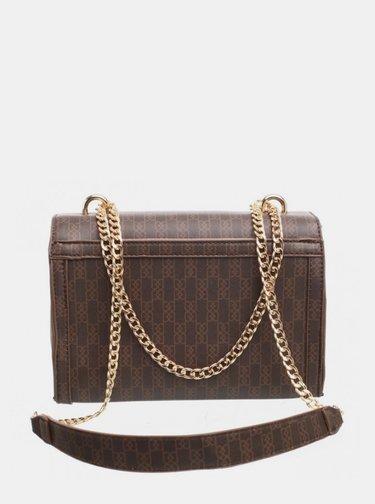 Hnědá vzorovaná crossbody kabelka Bessie London