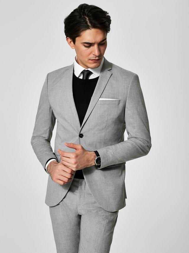 Svetlosivé oblekové sako Selected Homme Newone