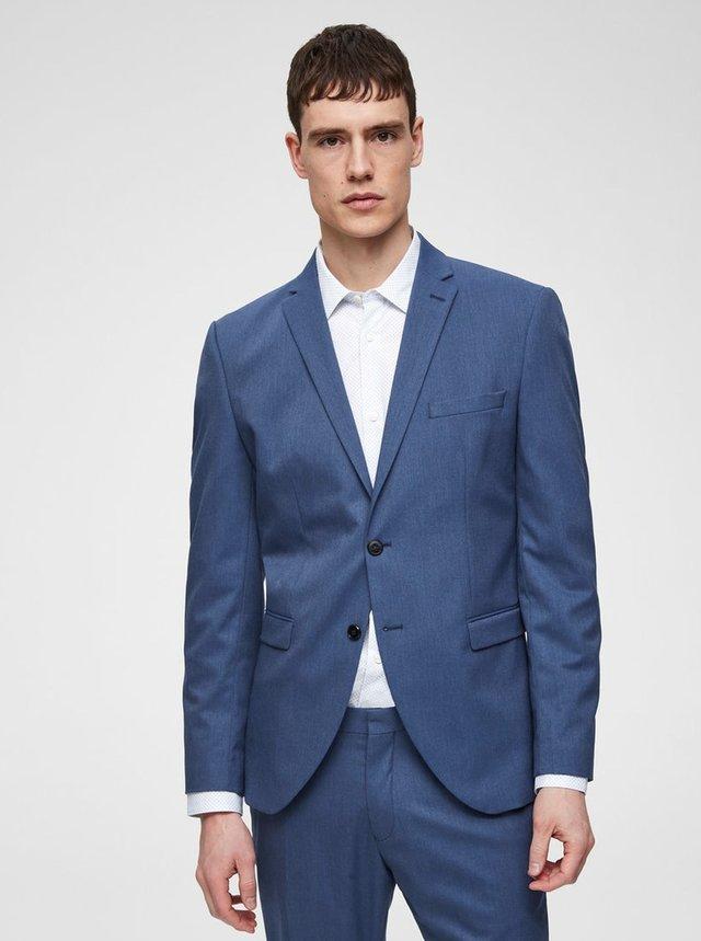 Modré oblekové slim sako Selected Homme Logan