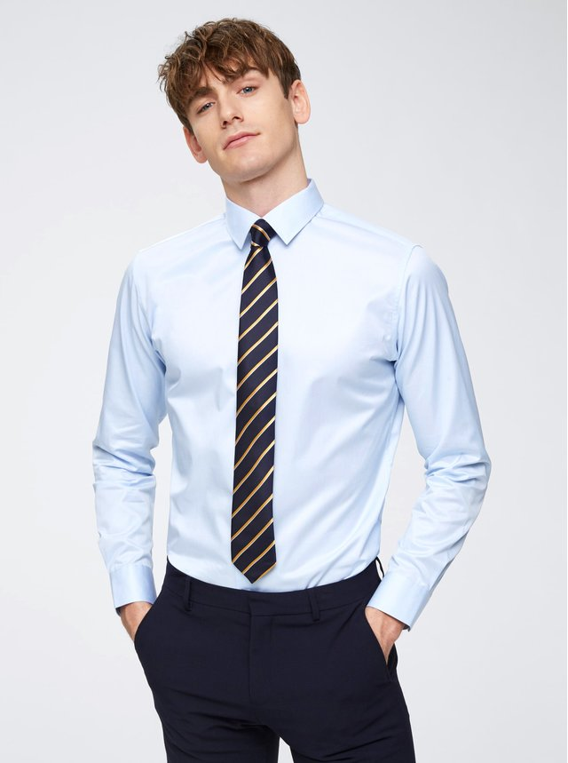 Svetlomodrá formálna slim fit košeľa Selected Homme Pen-Pelle