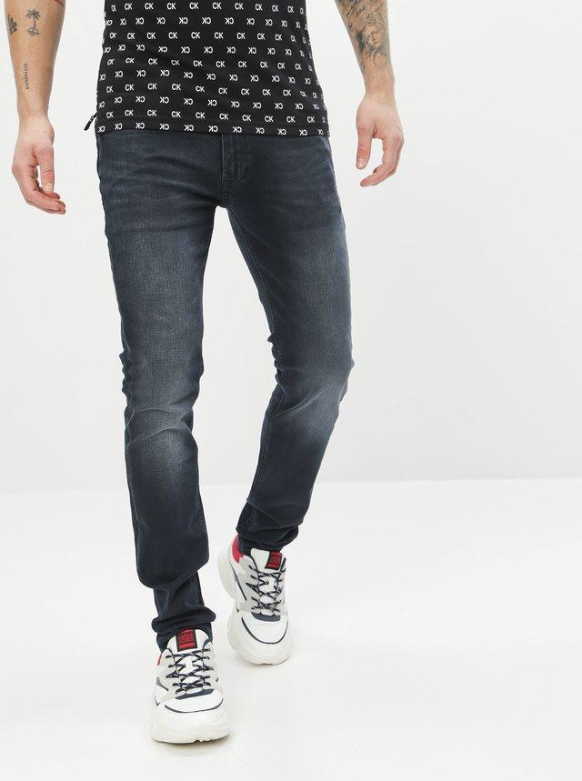 Tmavě modré skinny fit džíny Jack & Jones Liam