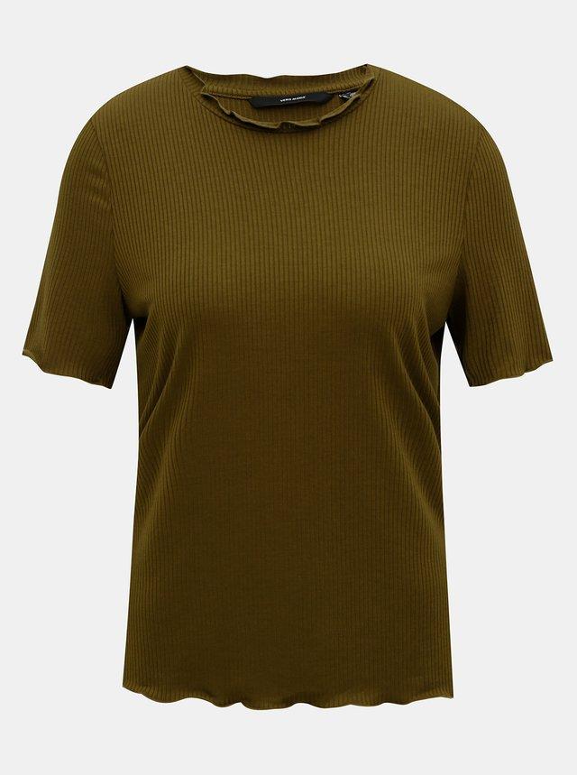 Kaki tričko VERO MODA Brea