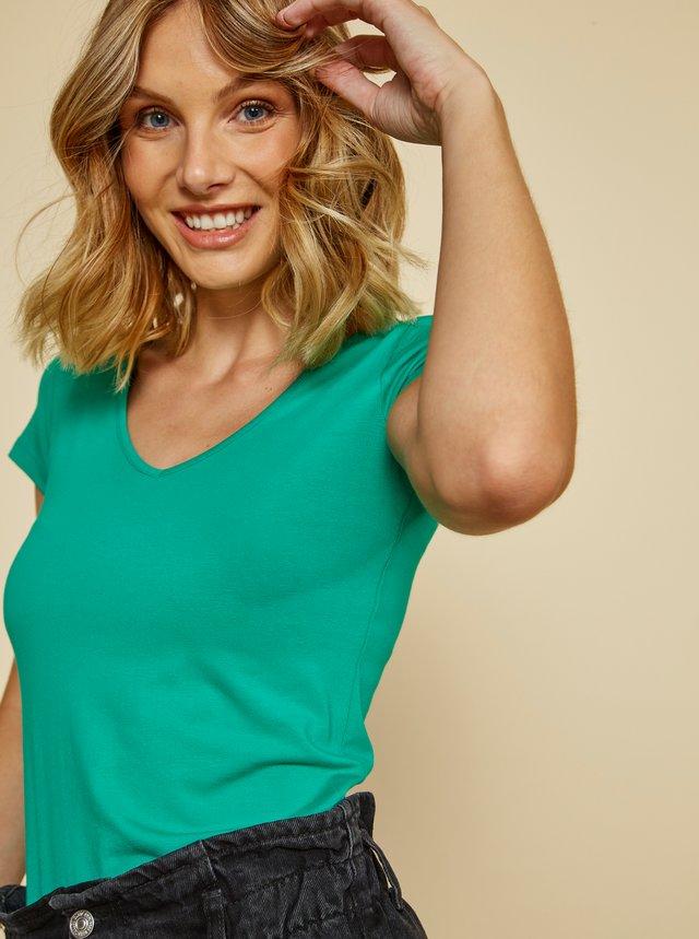 Zelené dámské basic tričko ZOOT Baseline Lia