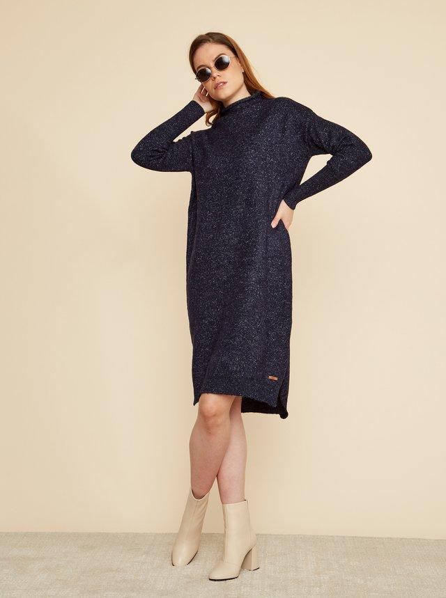Tmavomodré svetrové šaty ZOOT Kitty