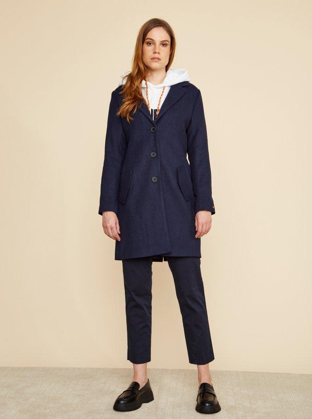Tmavě modrý dámský kabát s příměsí vlny ZOOT Baseline Klara