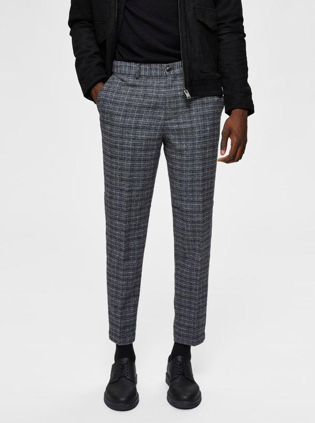 Šedé kalhoty s příměsí vlny Selected Homme-Theo