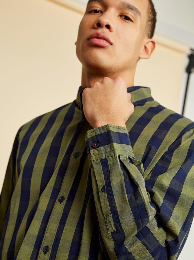 Modro-zelená pánska kockovaná košeľa ZOOT Richard