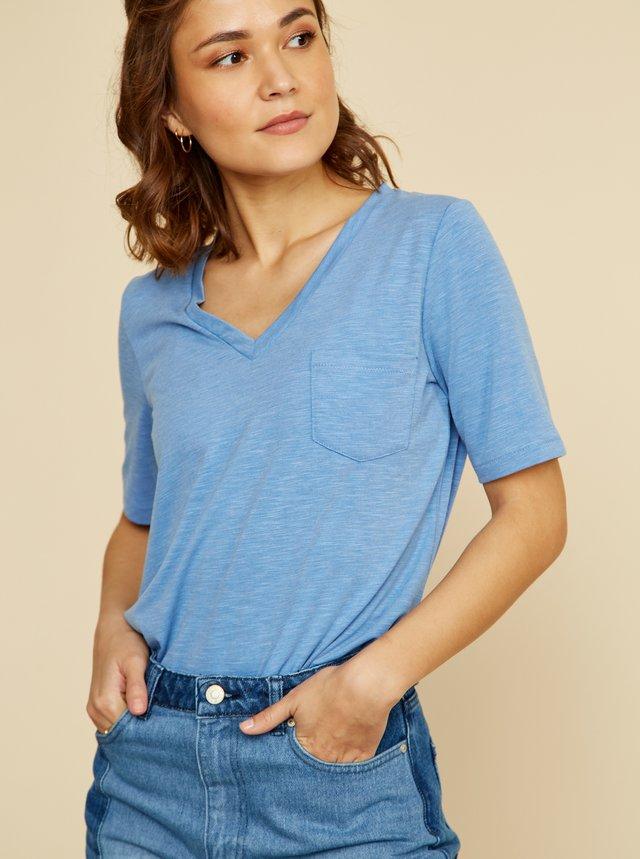 Světle modré dámské basic tričko ZOOT Baseline Bianca