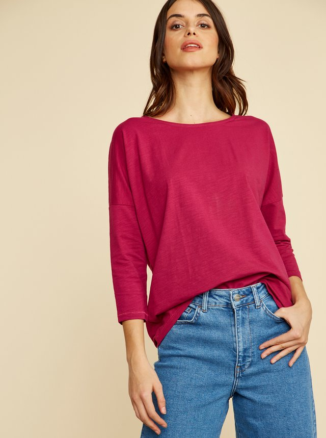 Tmavoružové dámske basic tričko ZOOT Baseline Rosie