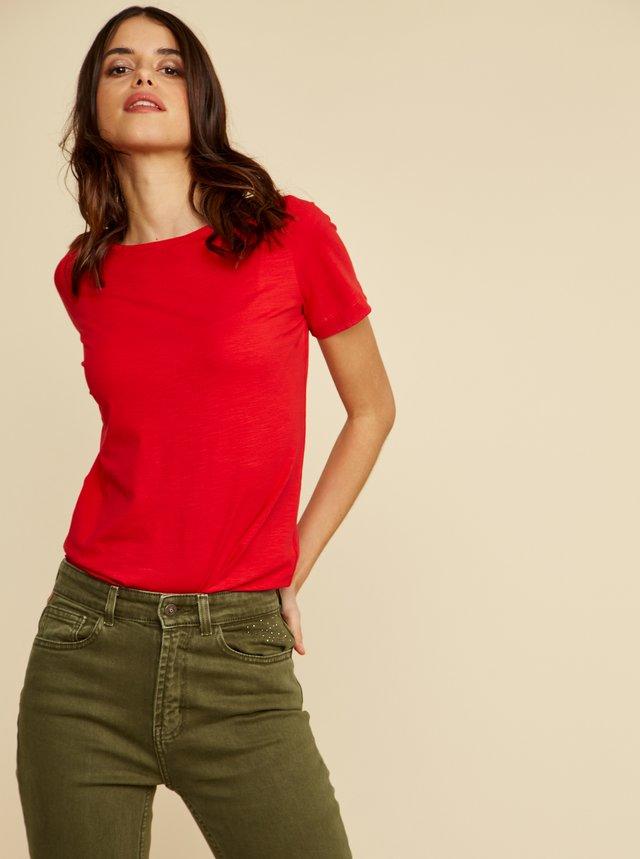 Červené dámske basic tričko ZOOT Baseline Trissie