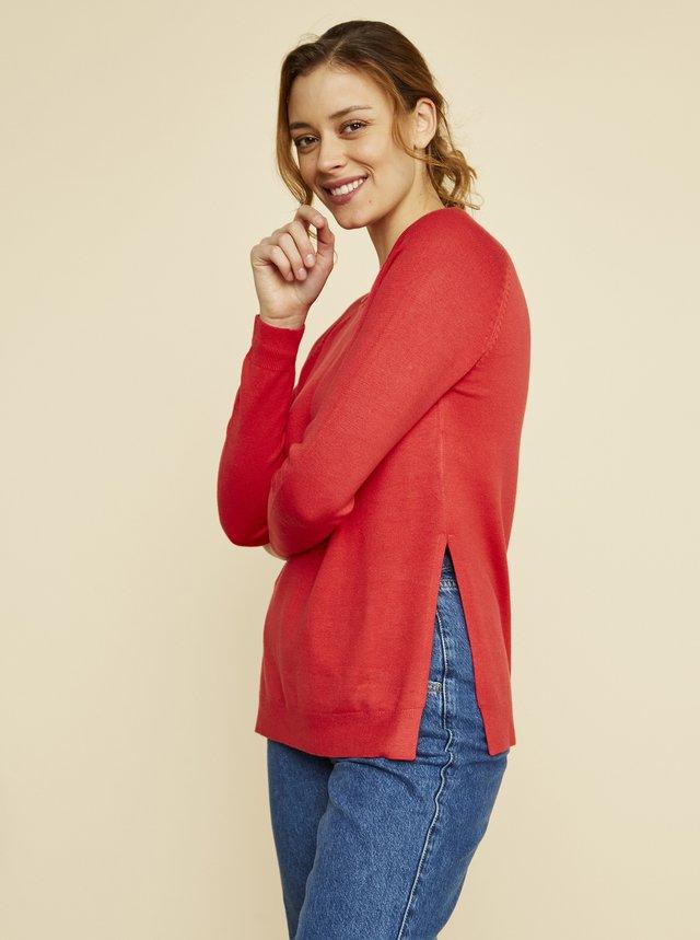Červený dámský basic svetr ZOOT