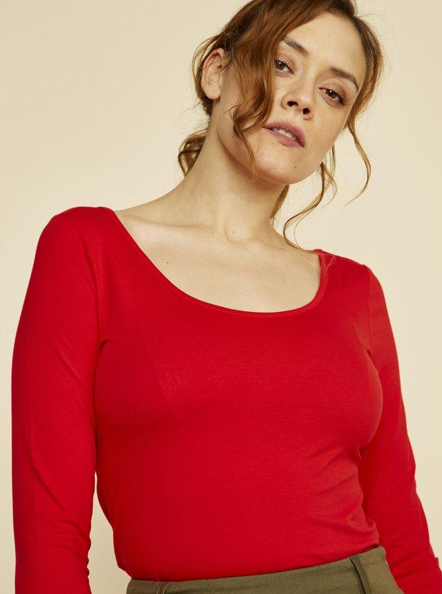 Červené dámské basic tričko ZOOT Baseline Theresa
