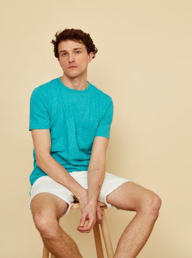 Tyrkysové pánské tričko s kapsou ZOOT Sheldon