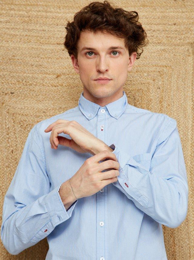 Světle modrá pánská pruhovaná košile ZOOT Kurt