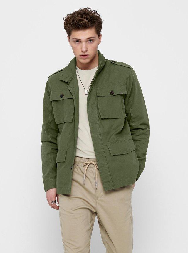 Zelená lehká bunda s kapsami ONLY & SONS Carter
