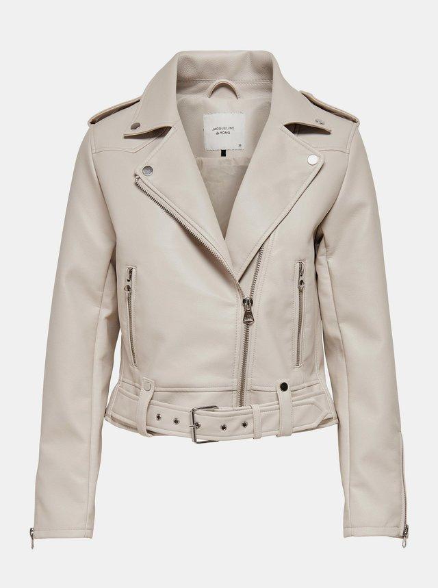 Krémová koženková bunda Jacqueline de Yong Beate