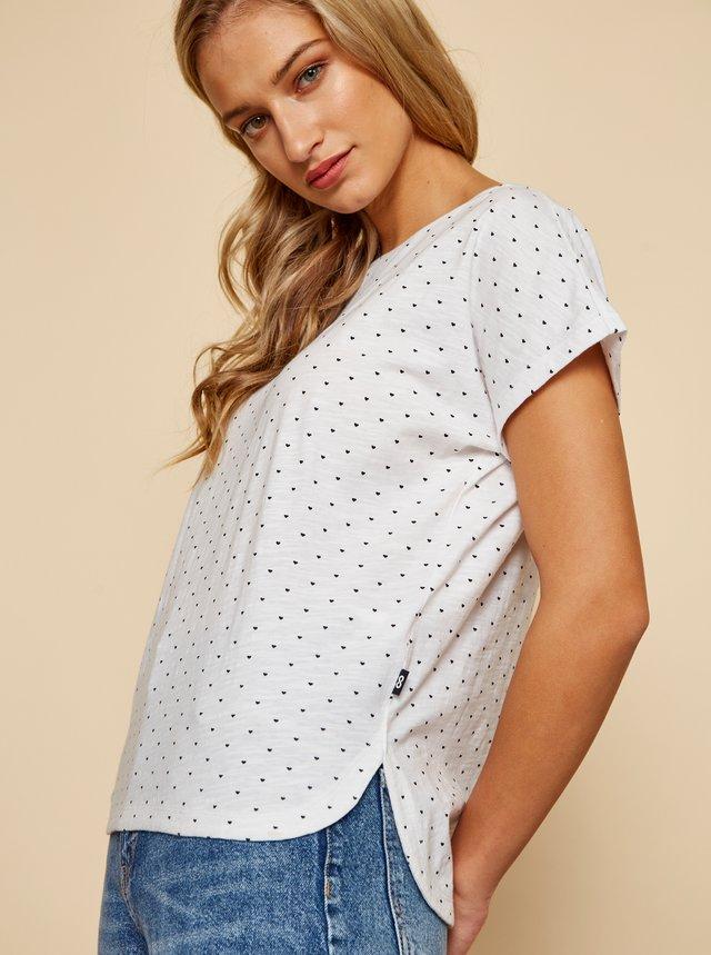 Bílé dámské tričko se srdíčky ZOOT Nosipho