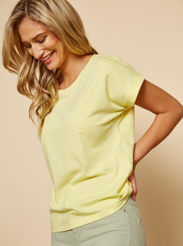 Žlté dámske basic tričko ZOOT Baseline Ruthie