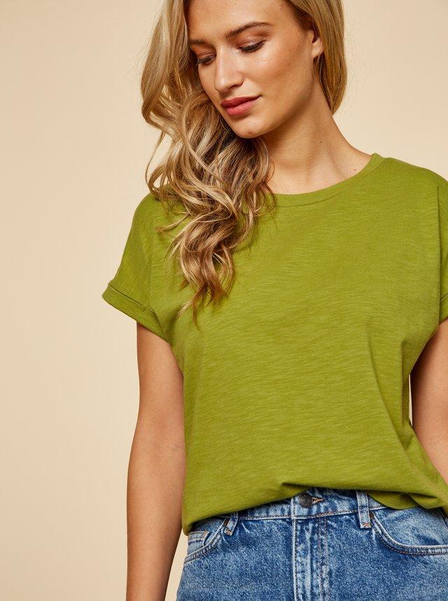 Zelené dámské basic tričko ZOOT Baseline Ruthie