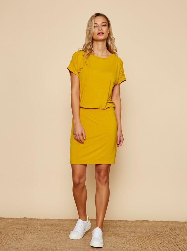 Žluté basic šaty ZOOT Baseline Nona