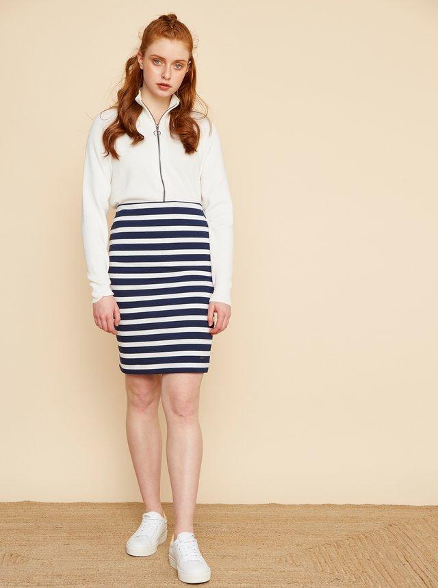 Bielo-modrá pruhovaná basic sukňa ZOOT Uma