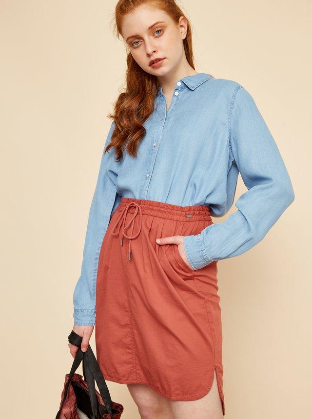 Tehlová sukňa s vreckami ZOOT Baseline Otelia