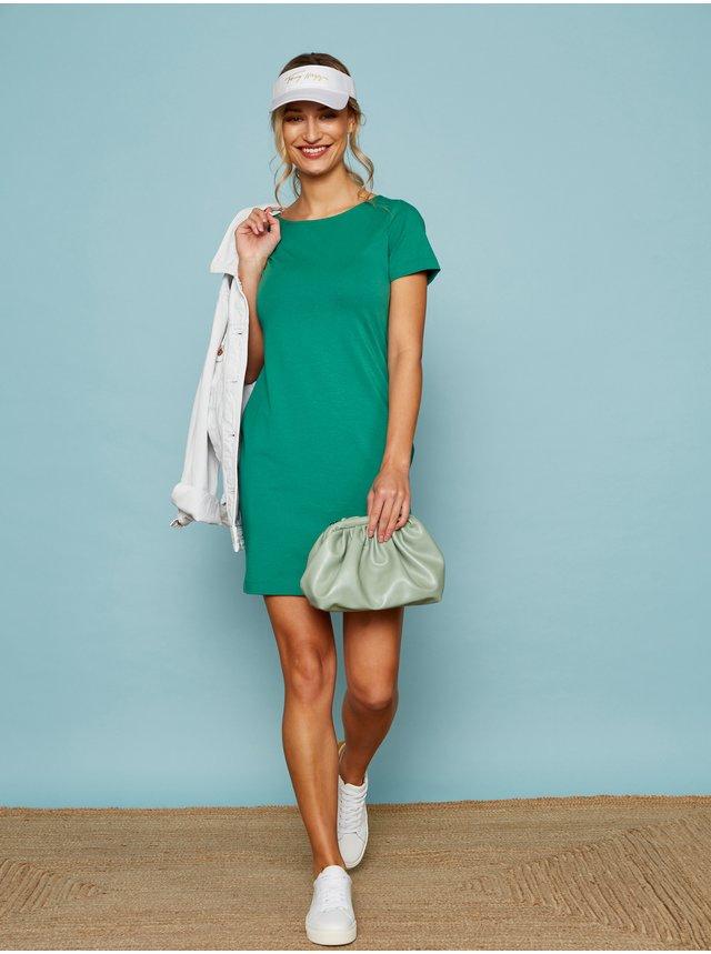 Zelené basic šaty ZOOT Baseline Brennda 2
