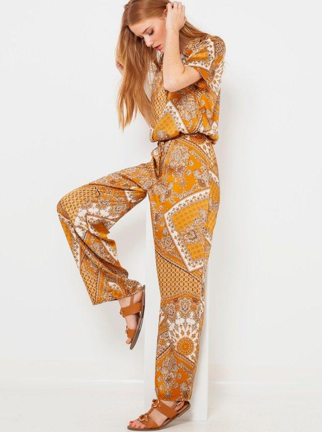 Nohavice pre ženy CAMAIEU - horčicová