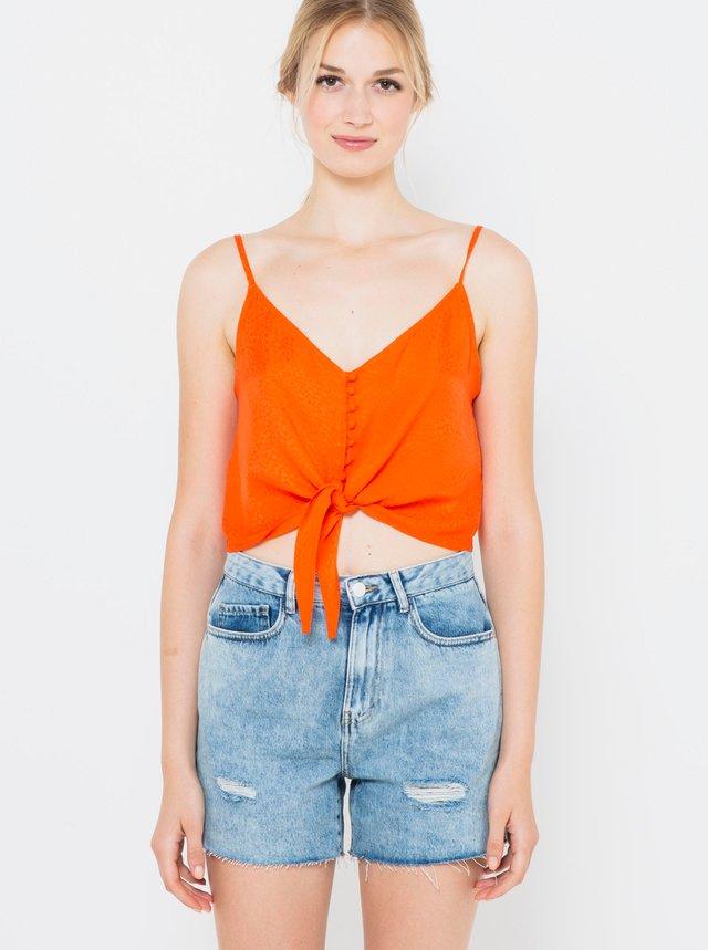 Oranžový top CAMAIEU