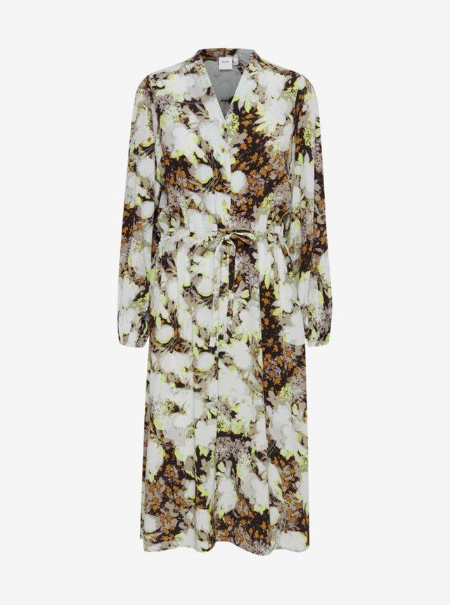 Šaty na denné nosenie pre ženy ICHI - biela, hnedá