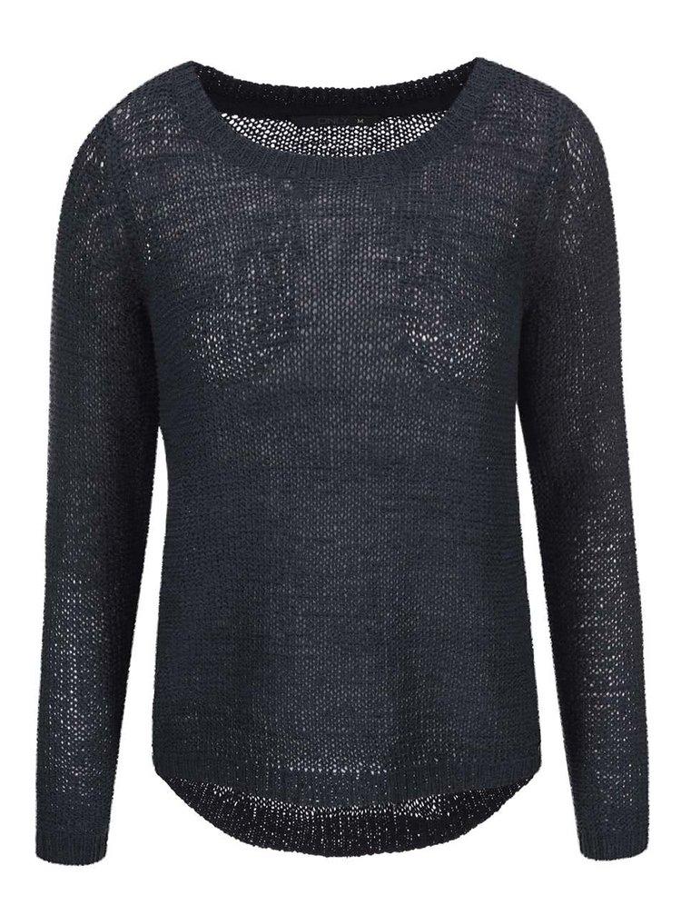 Tmavomodrý pletený sveter ONLY Geena