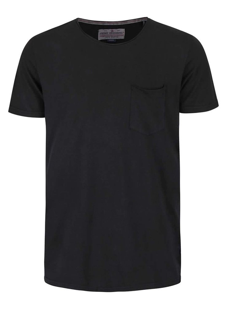 Černé tričko s krátkým rukávem Shine Original Andy