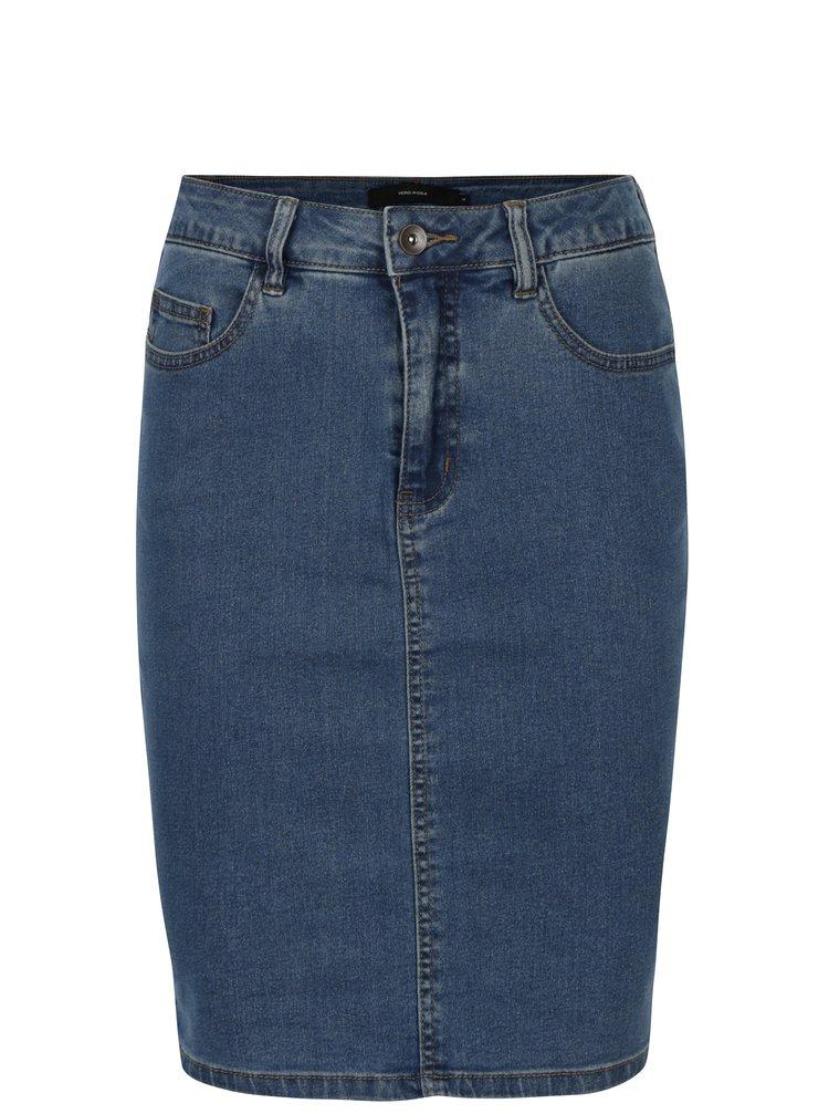 Modrá rifľová sukňa VERO MODA Hot