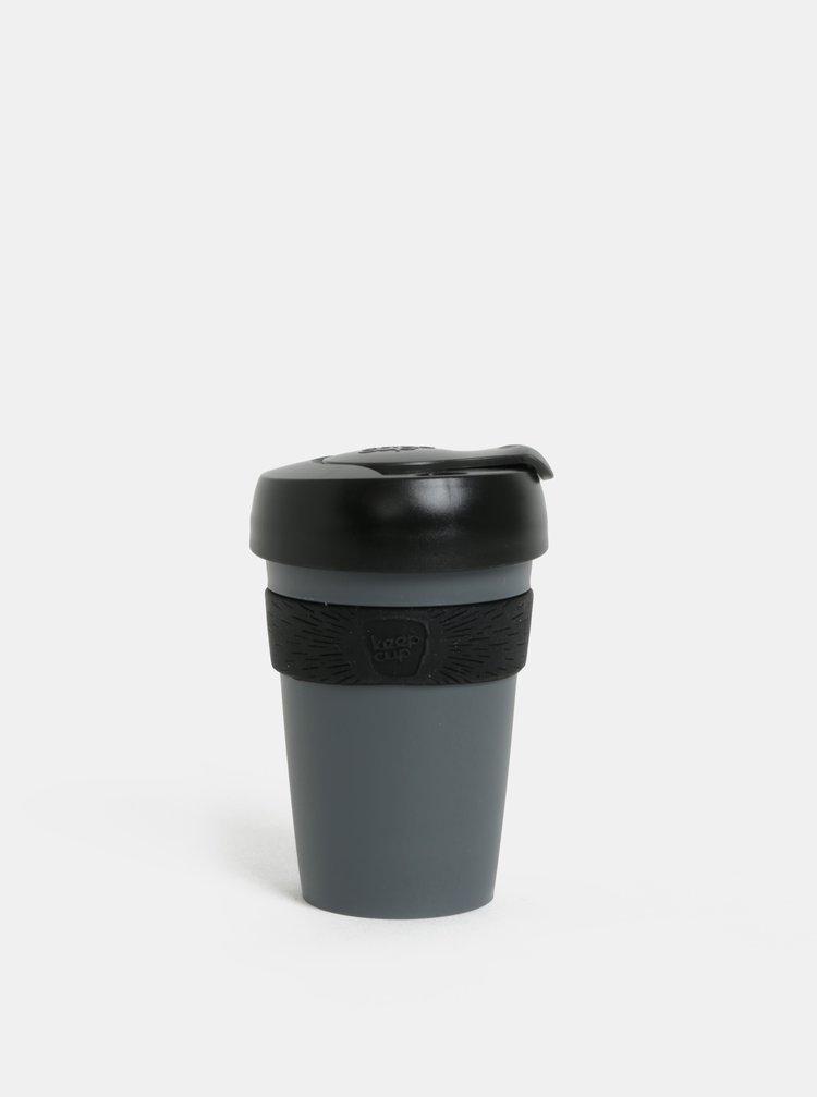 Černo-šedý cestovní hrnek KeepCup Original Six 177 ml