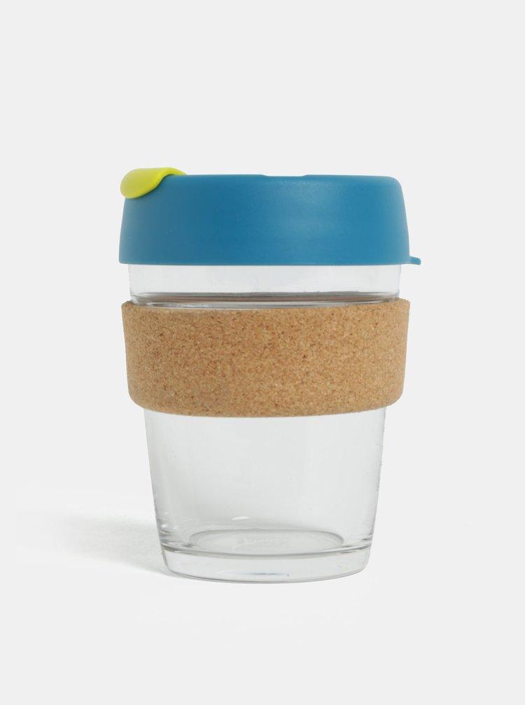 Modrý sklenený cestovný hrnček KeepCup Original Brew Medium