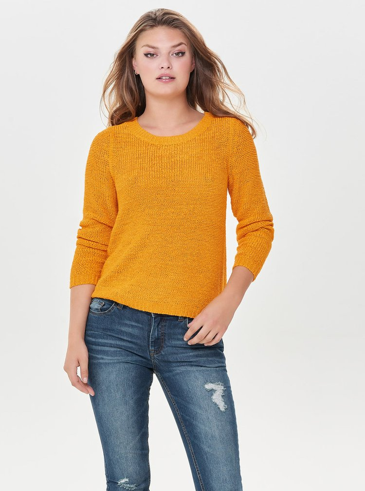 Horčicový sveter ONLY Geena