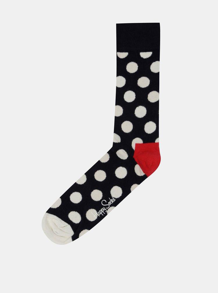 Tmavě modré ponožky s bílými puntíky Happy Socks Big Dots