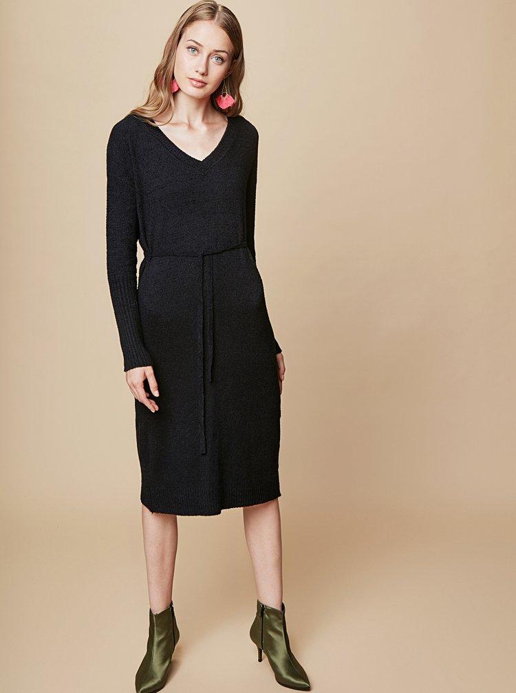 Černé svetrové šaty touch me.