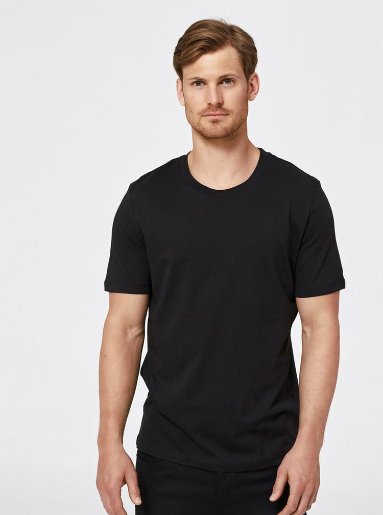 Černé basic tričko Selected Homme The Perfect